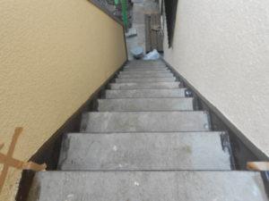 小平市 H邸階段シート貼り完了